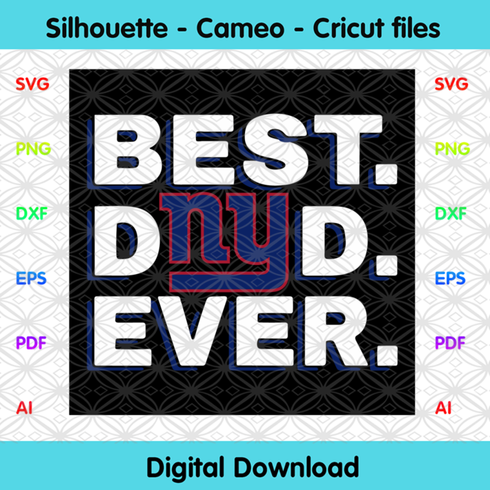 Best Dad Ever New York Giants Svg, Sport Svg, Football Teams Svg, Sport Teams,