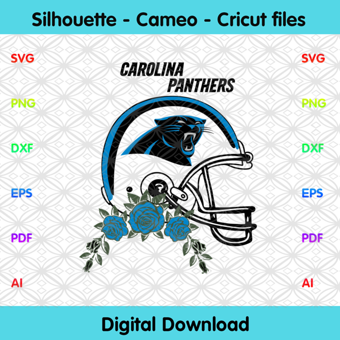 Carolina Panthers Helmets Svg, Sport Svg, Football Svg, Football Teams Svg, NFL