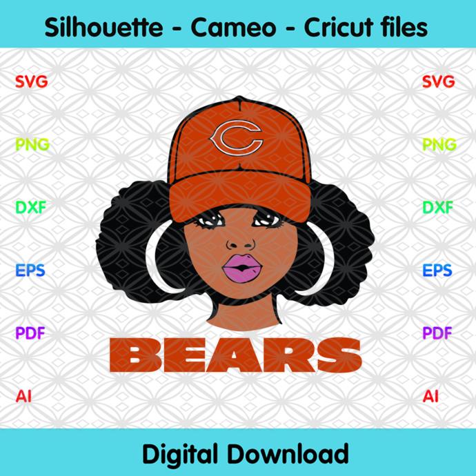 Chicago Bears Girl Svg, Sport Svg, Football Teams Svg, Sport Teams, NFL Svg,