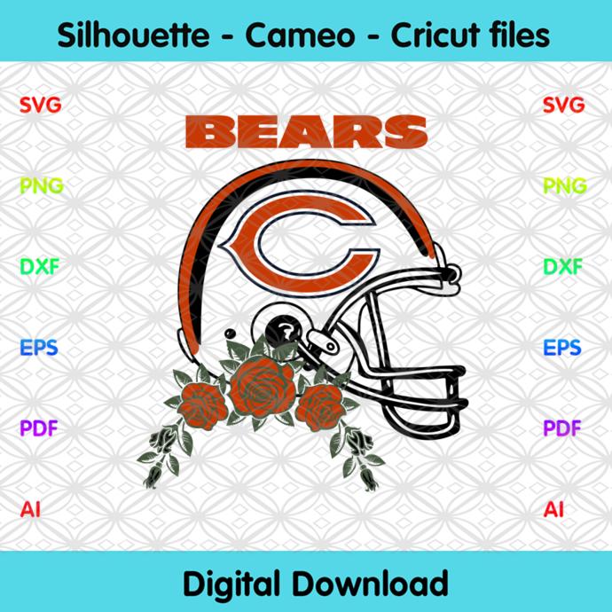 Chicago Bears Helmets Svg, Sport Svg, Football Teams Svg, Sport Teams, NFL Svg,