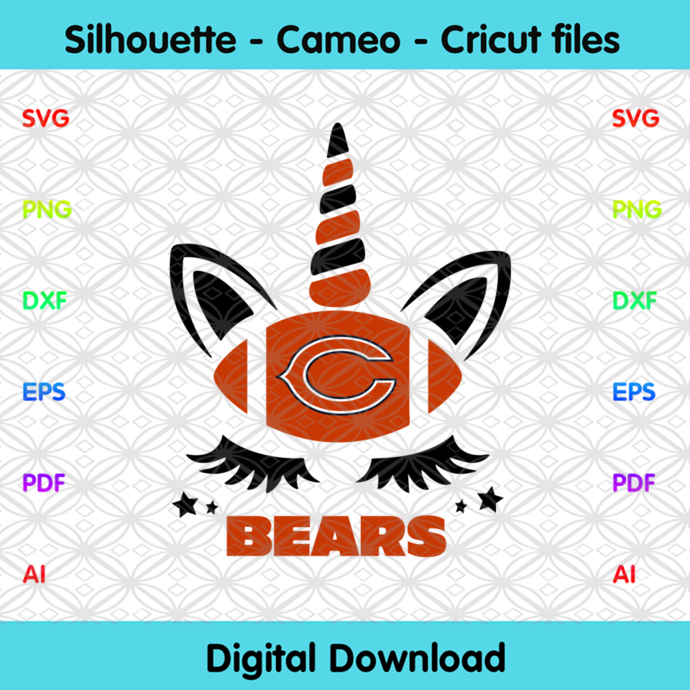 Chicago Bears Unicorn Svg, Sport Svg, Football Teams Svg, Sport Teams, NFL Svg,