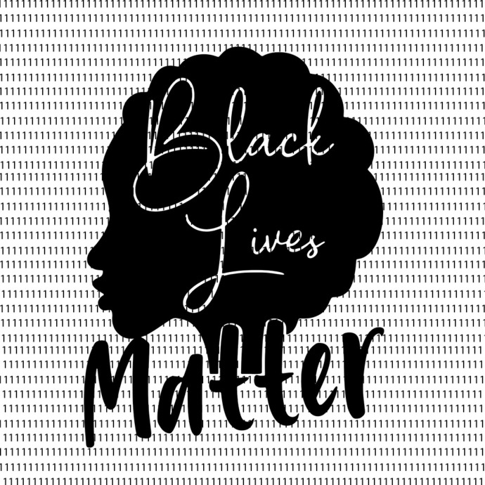 Black Lives Matter Afro Hair Woman SVG, Black Lives Matter, Black Lives Matter