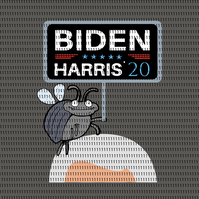 Funny Debate Fly on Mike Pence's Head for Biden Harris 2020, Debate Fly on Mike