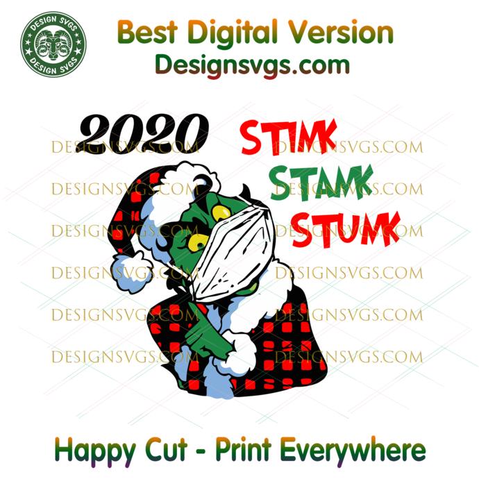 Stink Stank Stunk 2020 Plaid Grinch Svg, Christmas Svg, Xmas Svg, Merry
