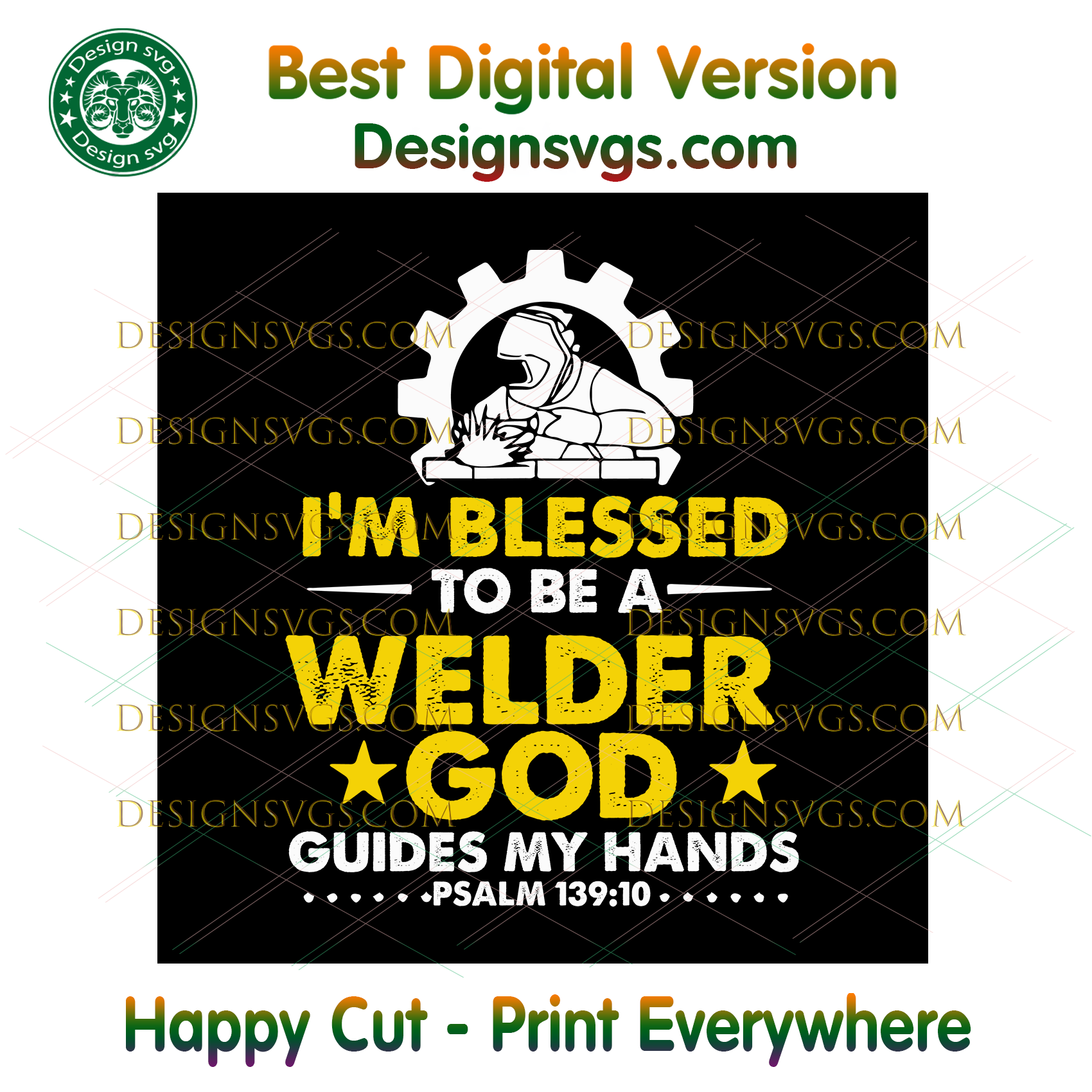 Im Blessed To Be A Welder God Guides My Hands Svg, Trending Svg, Welder Gift