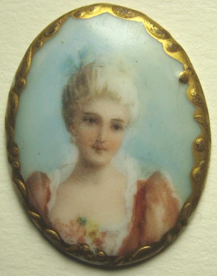 Porcelain Stud Lady Bust, NBS Medium