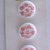White Glass Buttons with Orange and Gold Splatter Pattern