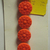 """Organgy Red Glass Buttons with Molded top 1/2"""" Size"""