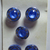 """Moonglows Blue Glass Buttons with Silver Luster 1/2"""" Size"""
