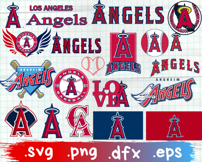 Los Angeles Angels, Los Angeles Angels svg, Los Angeles Angels logo, Los Angeles