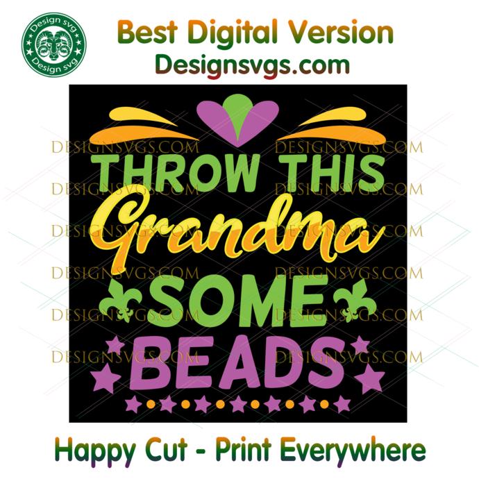 Throw this grandma some beads svg, beads svg, beads png file, grandma unicorn