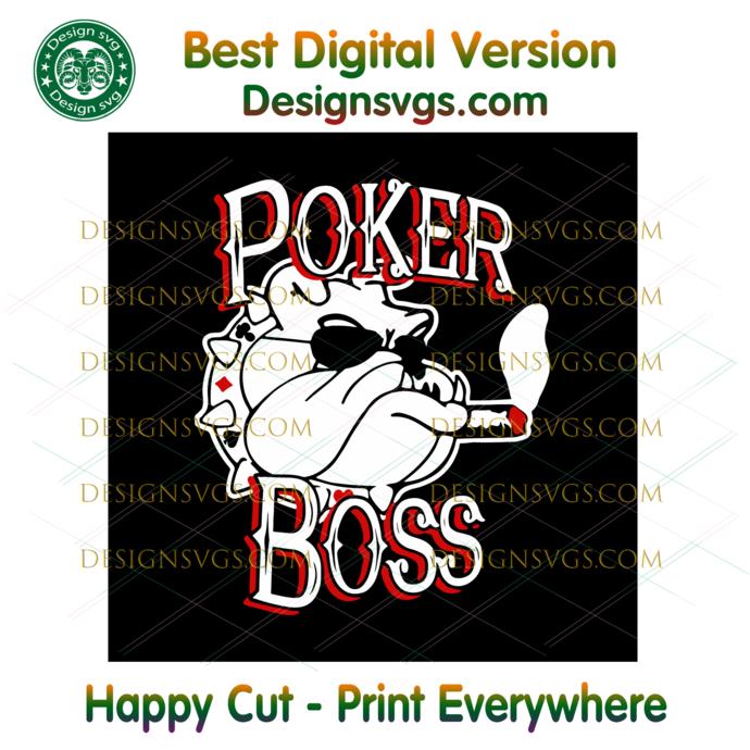 Poker boss svg, Poker svg, bulldog svg, bulldog poker svg, poker bulldog svg,