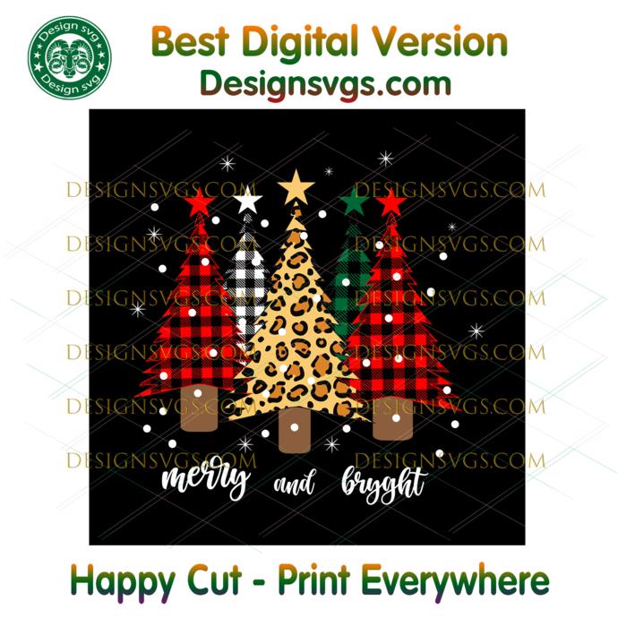 Mery And Bright Svg, Christmas Svg, Xmas Svg, Christmas Gift, Merry Christmas,