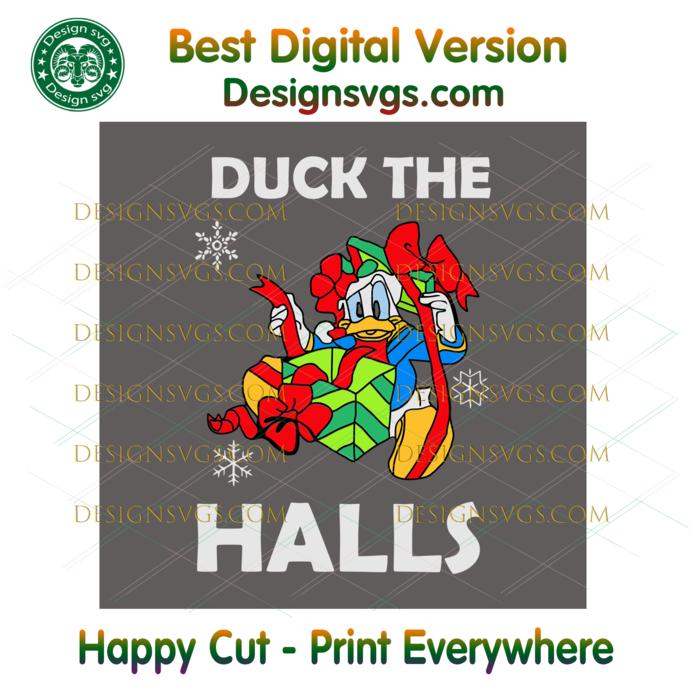 Duck The Halls Christmas Svg, Christmas Svg, Xmas Svg, Christmas Gift, Merry