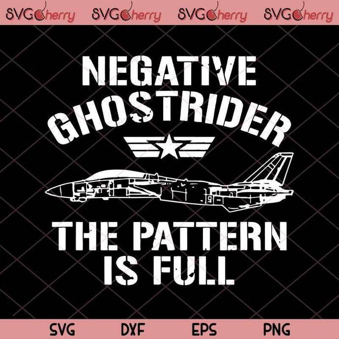 Negative Ghost Rider Pattern Is Full Fighter Pilot, Army, Combat Aircrafts SVG,