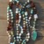 Bohemian Rapsody, Double wrap, Beaded Necklace, with Pendant, by Knottedup,