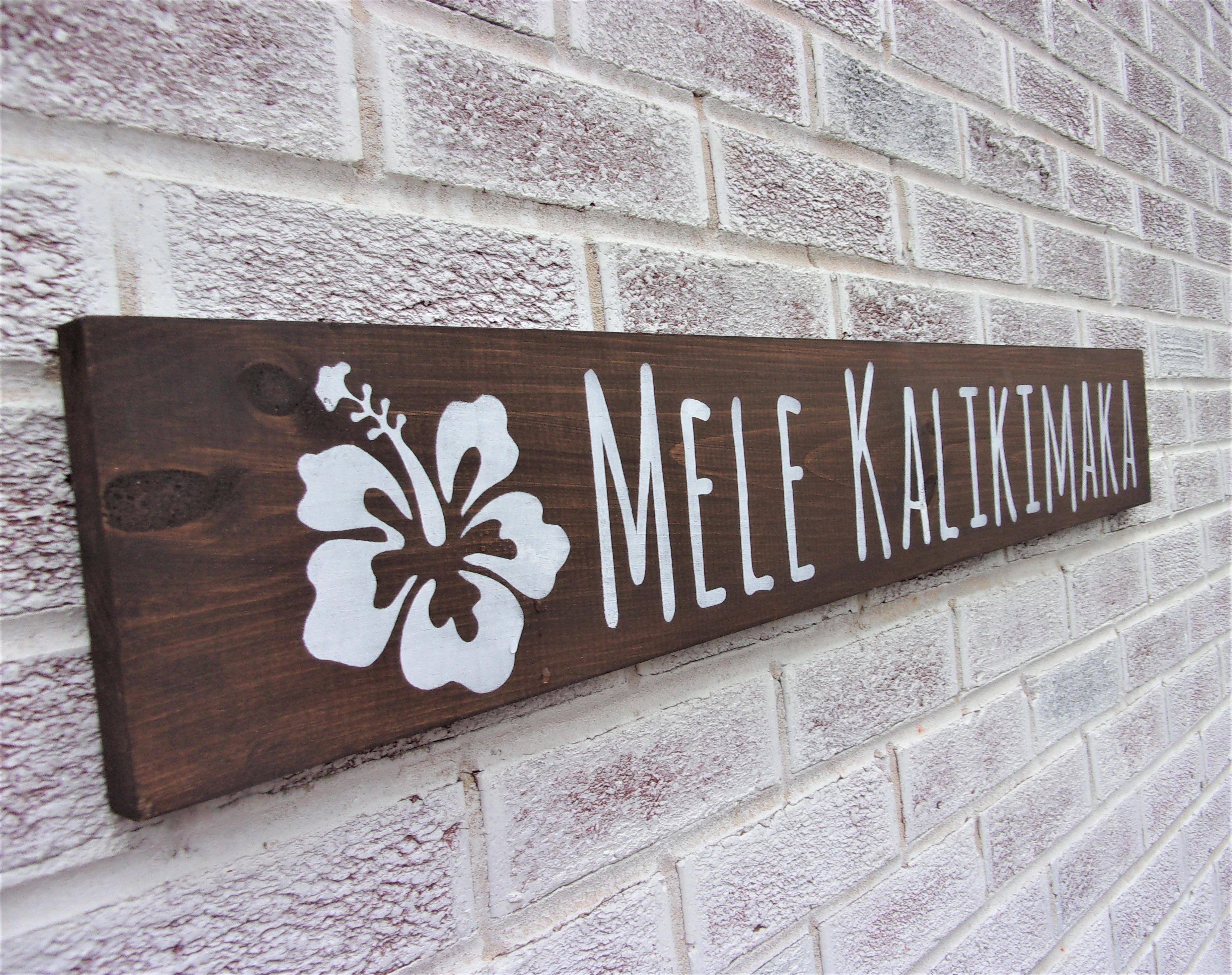 Merry Christmas sign in Hawaiian, Mele Kalikimaka sign, Hawaii, Christmas