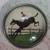 "Horse and Jockey Reverse Painted under Glass 9/6"" split shank"