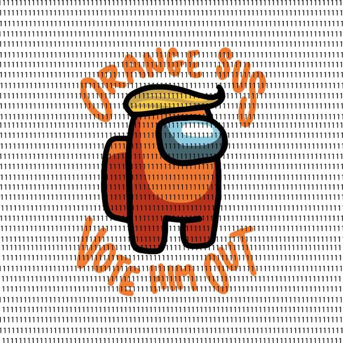 Among Us svg, impostor among svg, Orange Sus Vote Him Out impostor among funny