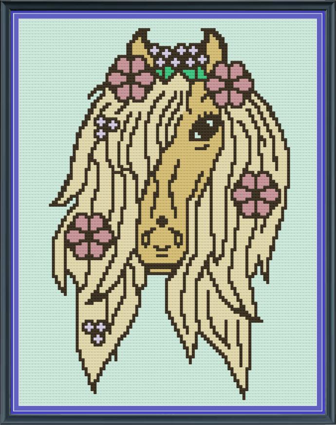 Pony Flowers-Mini C2C-100x130