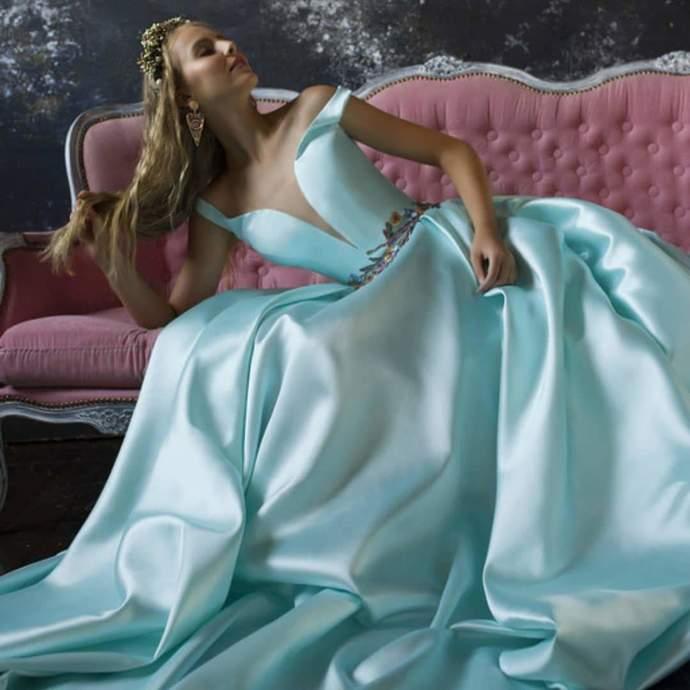 Satin Ball Gown Prom Dresses, Long Prom Dress, Prom dress,DR1961