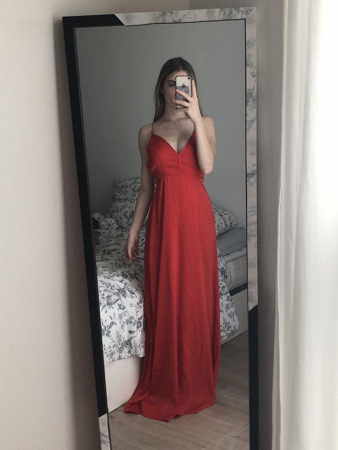 Red 2020 Prom Dresses, Long Prom Dress, Simple prom dress,DR1972