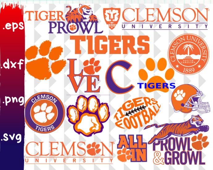 Clemson Tigers, Clemson Tigers svg, Clemson Tigers clipart, Clemson Tigers logo,