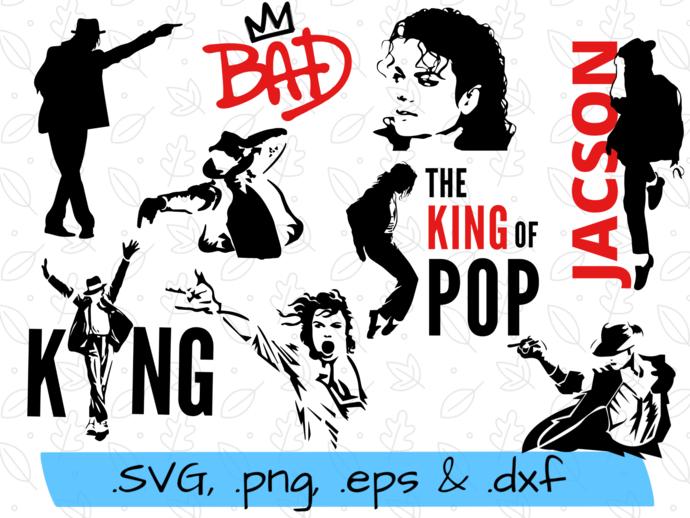 Michael Jackson svg, Michael Jackson silhoeutte, Michael Jackson clipart,