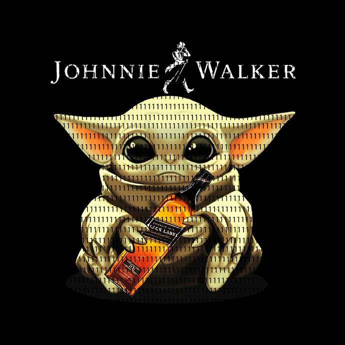 Baby yoda Johnnie walker, Baby Yoda svg, Baby Yoda vector, Baby Yoda digital