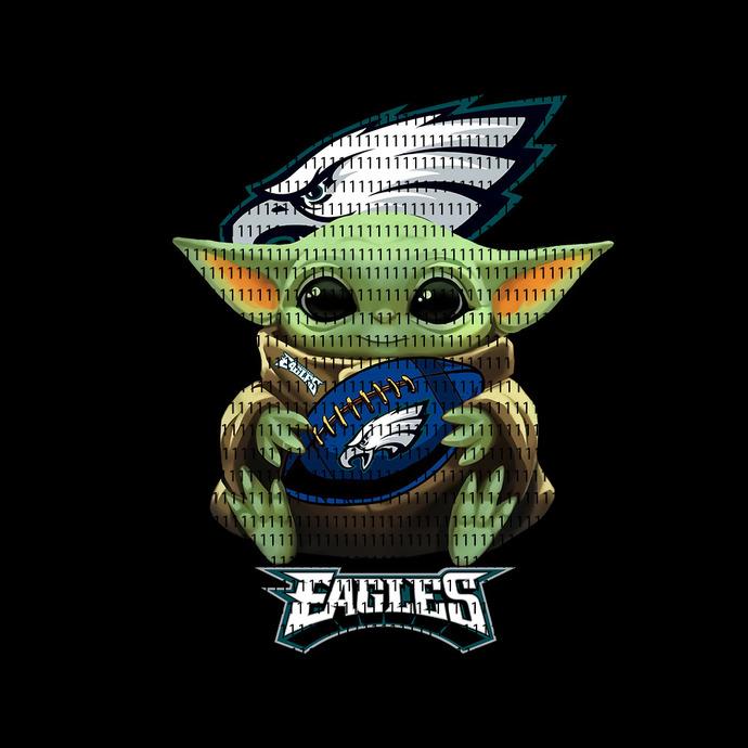 Philadelphia eagles Baby Yoda , Baby Yoda svg, Baby Yoda vector, Baby Yoda