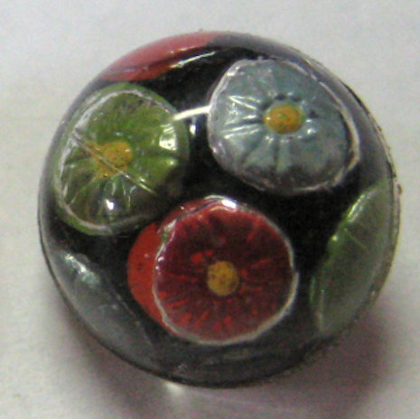 2pc Cemented Glass Button