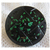 Antique Black Glass with Molded Top and Green Foil Flecks