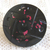 Antique Black Glass with Molded Top and Red Foil Flecks