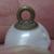 Antique White Glass Ball Button