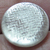 Antique White Glass Button with Silver Patterned Foil
