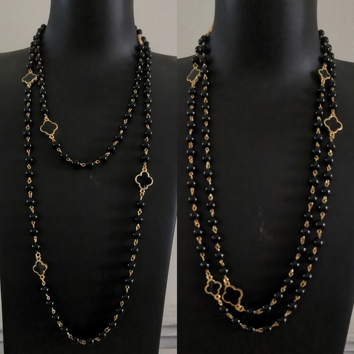Black & Gold long necklace