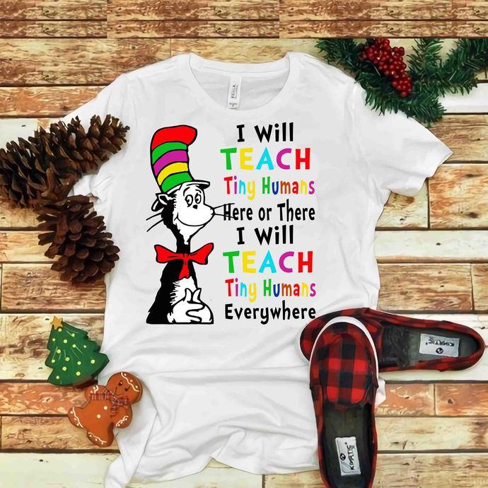 I will teach tiny humans Svg, Teacher Svg, Dr seuss vector, Dr Seuss Svg, Cat In