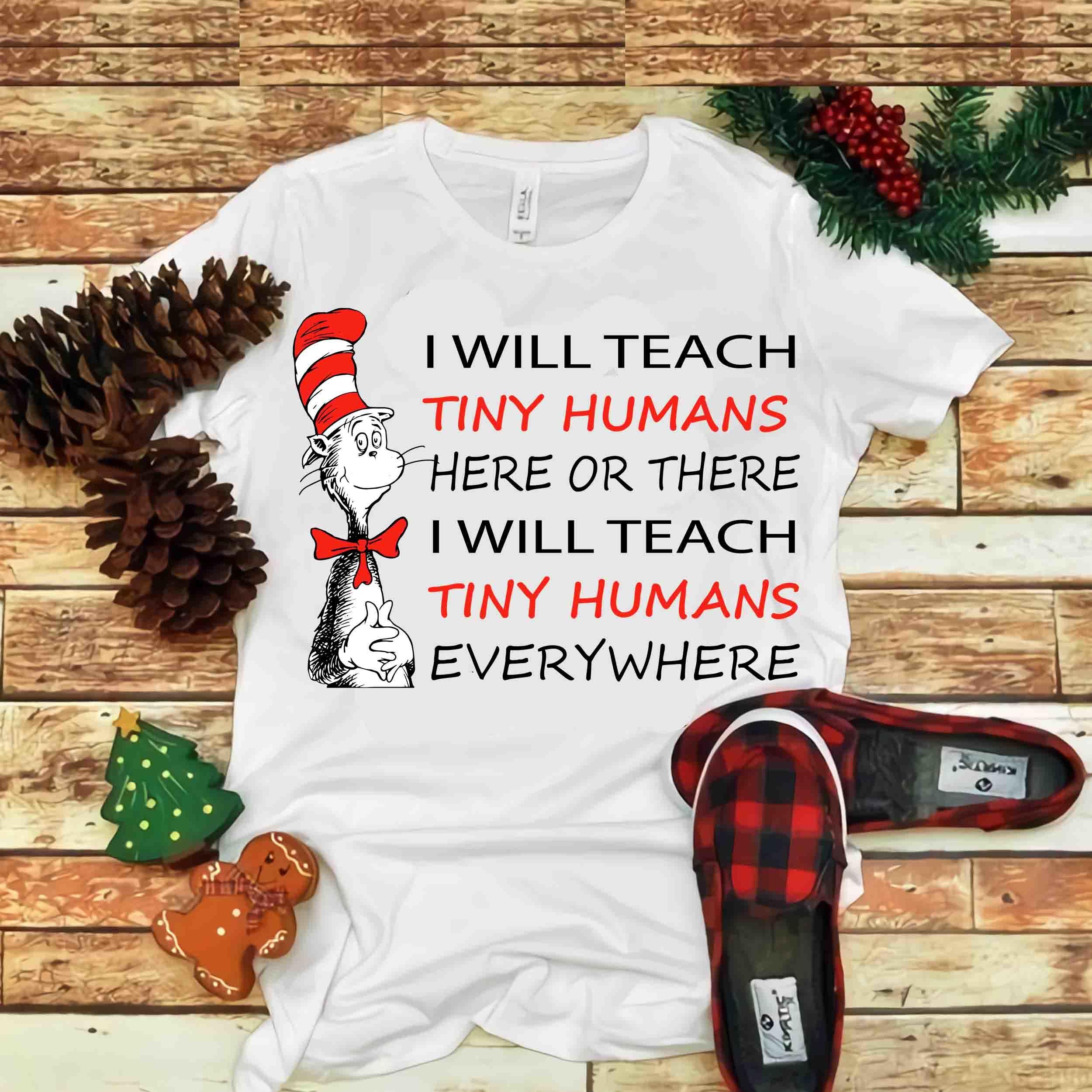I will Teach Tiny Humans Svg, Educator I Am, Dr seuss vector, Dr Seuss Svg, Cat
