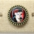 Gothic zombie ring, skull cameo with roses ring, antiqued bronze ring, goth