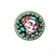 Gothic zombie pin brooch, skull cameo with rhinestones, goth valentine jewelry,