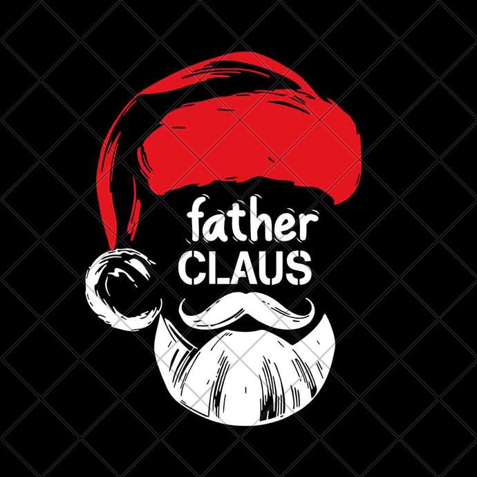 Father claus svg, father claus santa, santa claus svg, Merry christmas,
