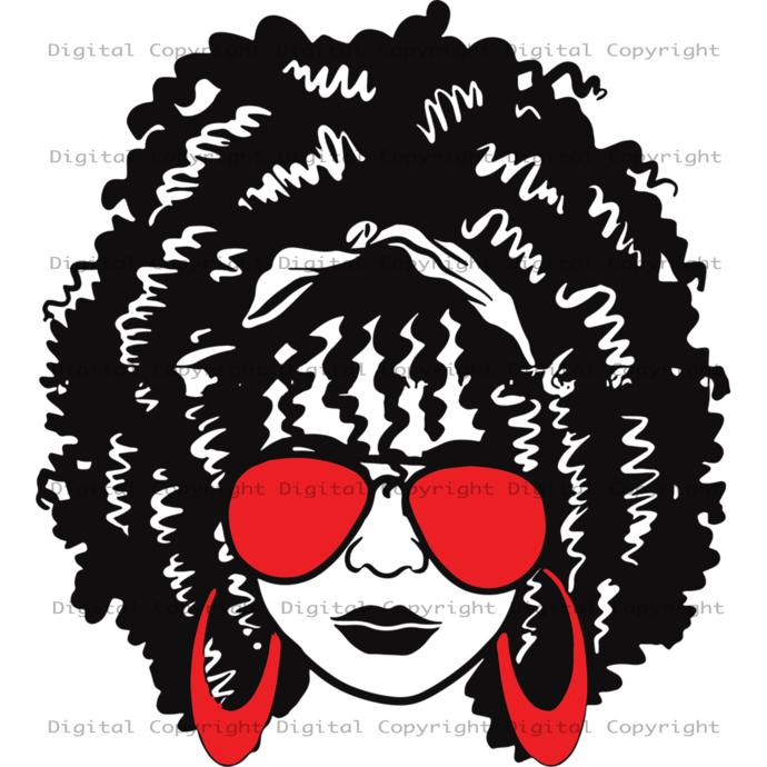 African Woman Svg, Afo Queen Gift, Afro Melanin Svg,Black Girls,Black Girl