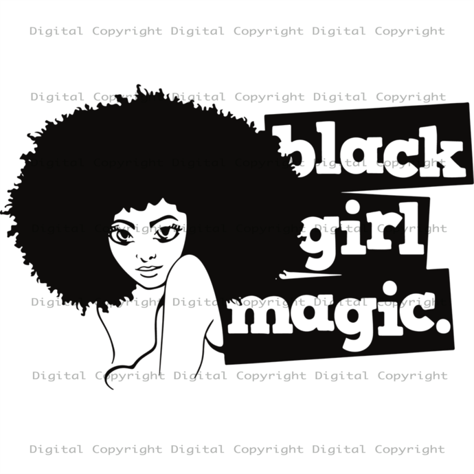Black Girl Magic,Black Girl Svg, Magic Girl Svg, Black History,Afro Woman