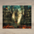 Watercolor - City Burning to the Ground - City Scenery - City Burning - Fire -