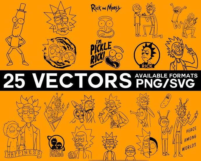 Rick and Morty svg png vector pack, little rick, rick cartoon, svg png pack,