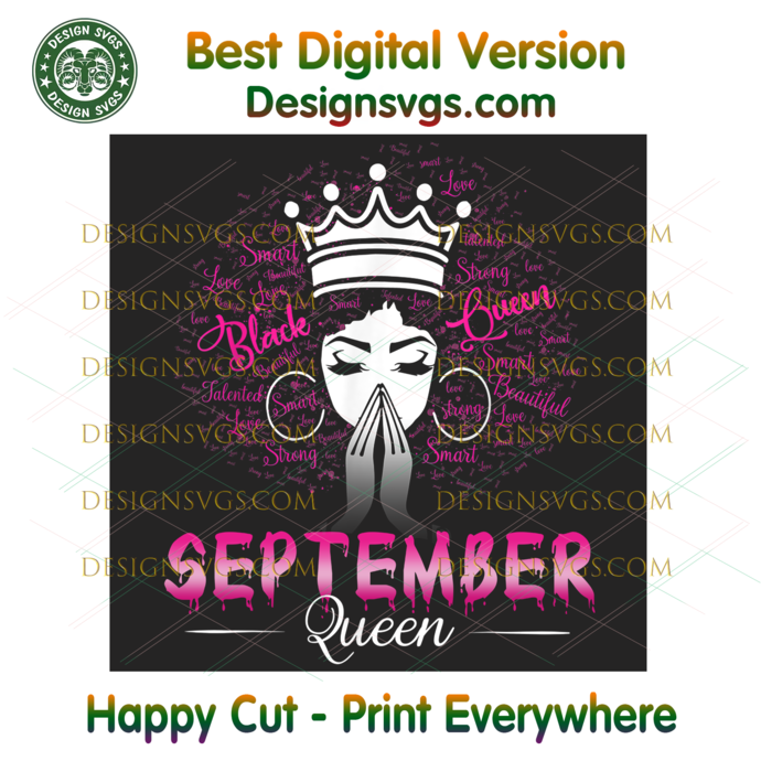 September Black Queen Png, Birthday Png, September Birthday, September Queen