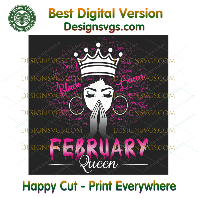 February Black Queen Png, Birthday Png, February Birthday, February Queen Png,