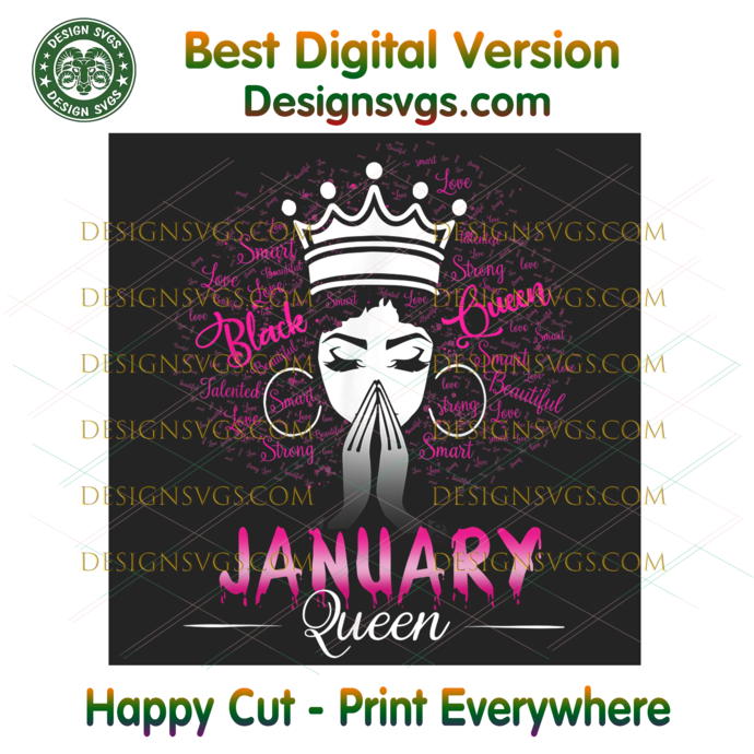 January Black Queen Png, Birthday Png, January Birthday, January Queen Png,