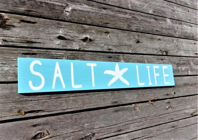 Beachy Decor, Salt Life, Starfish decor, Beach house signs, wood beach signs,