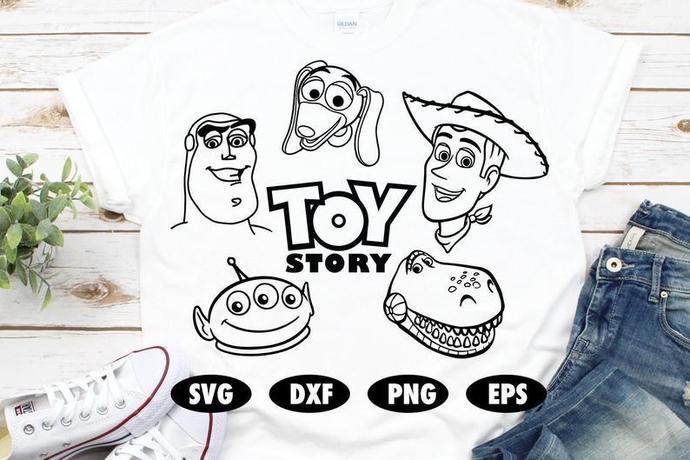 Toy Story SVG, Woody svg, Buzz lightyear svg, Slinky dog svg, Rex svg, Alien